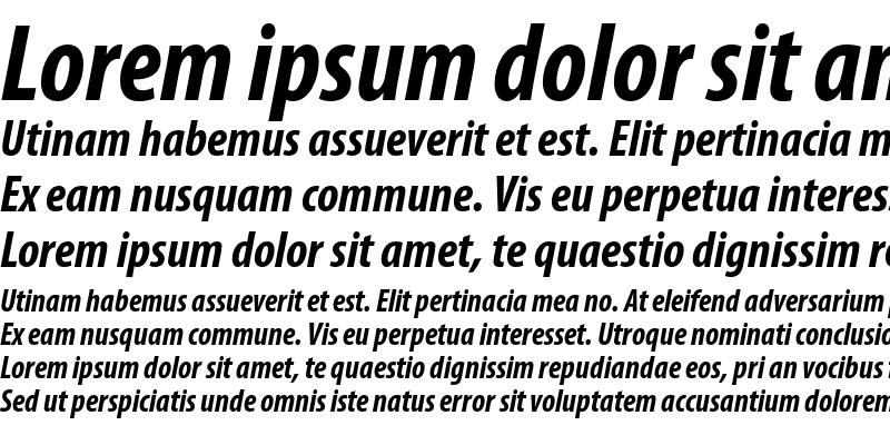 Sample of Myriad Pro Bold Condensed Italic