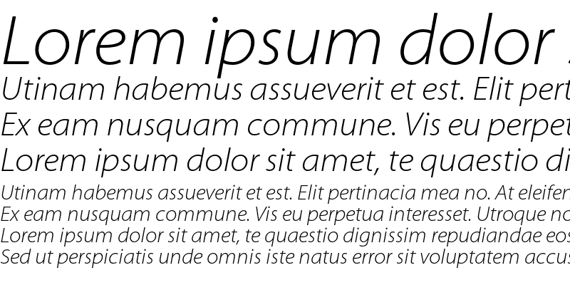 Sample of Myriad Pro Light SemiExtended Italic
