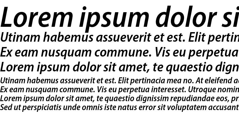 Sample of Myriad Pro Semibold SemiCondensed Italic