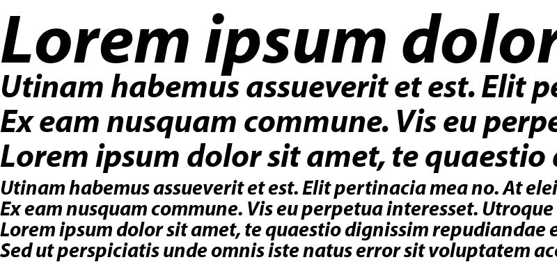 Sample of Myriad Roman Bold Italic