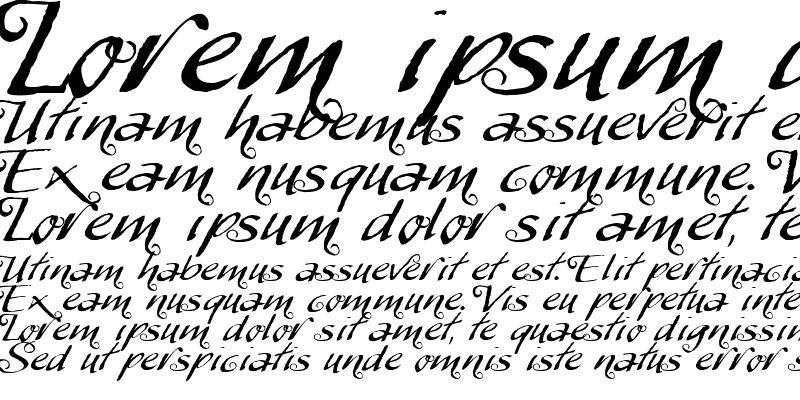 Sample of MyScript Swashes Regular