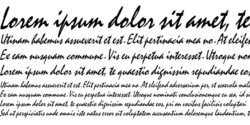 Sample of Mystic Thin Italic