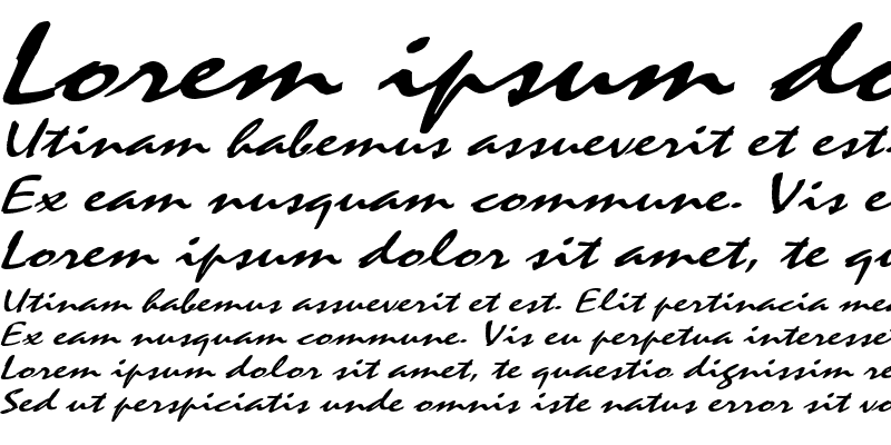 Sample of MysticExtended Italic