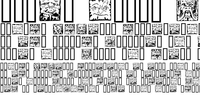 Sample of Mythago Squares