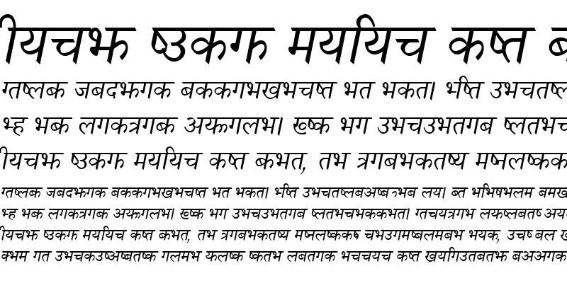 Sample of Nagarik Italic