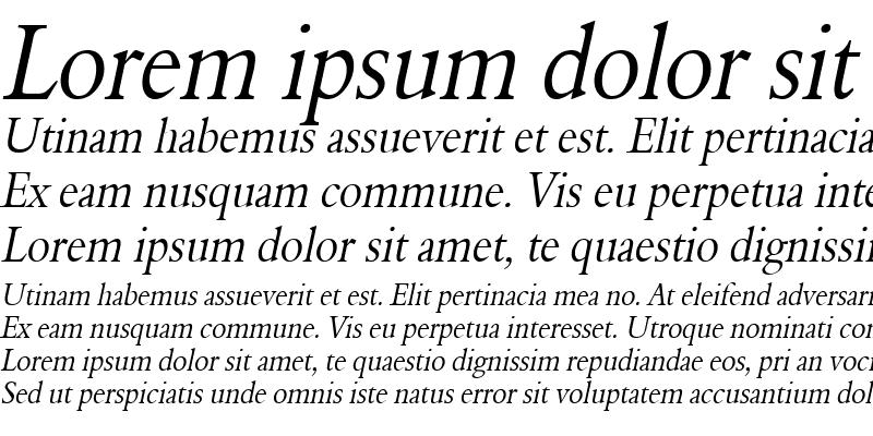 Sample of NalineCondensed Italic