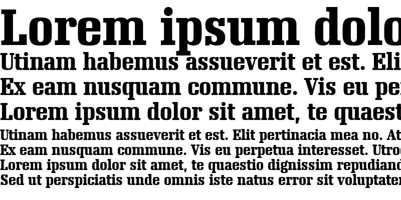 Sample of Napoleon Bold Condensed