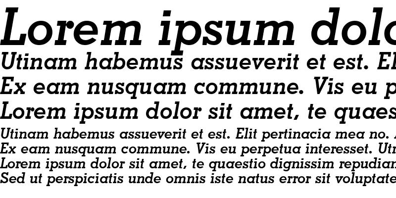 Sample of Nashville Bold Italic