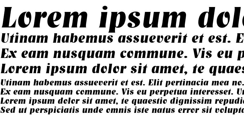 Sample of NashvilleEF Bold Italic