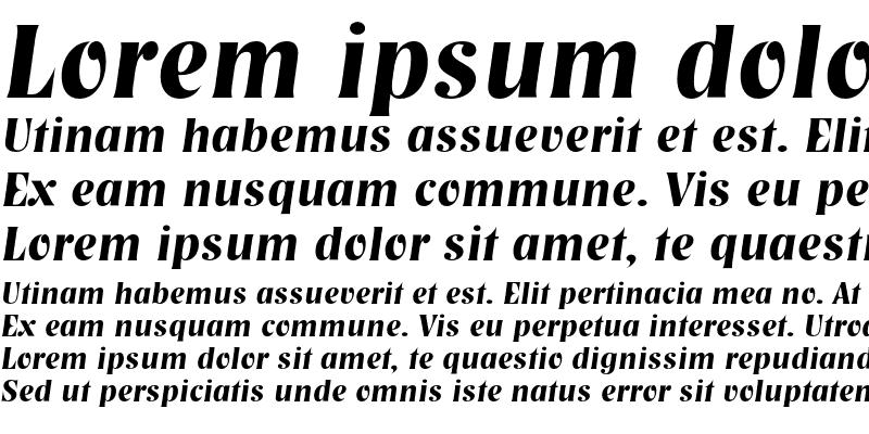 Sample of NashvilleEF DemiBold Italic