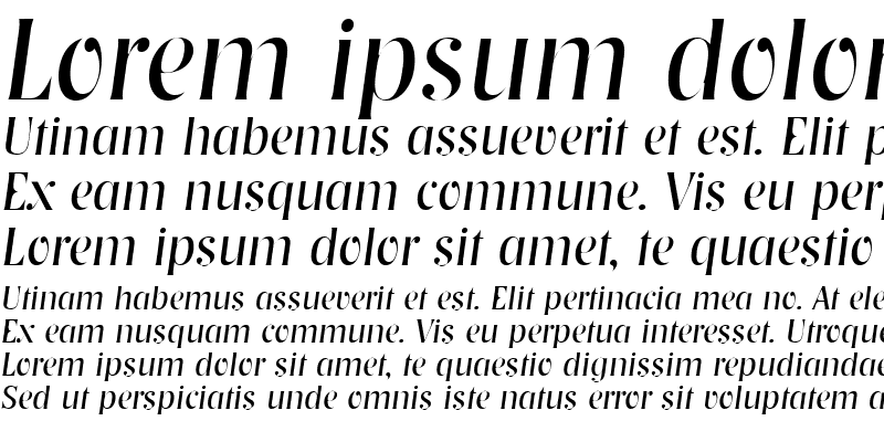 Sample of NashvilleLH Italic