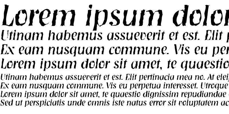 Sample of NashvilleRandom Italic