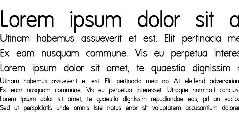 Sample of National First Font Normal