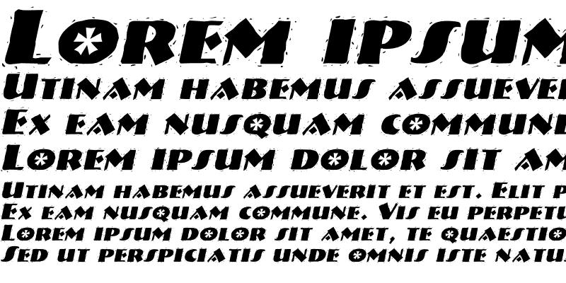 Sample of Natividad Italic