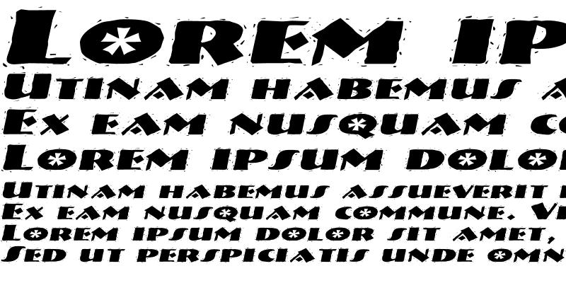 Sample of NatividadExtended Italic