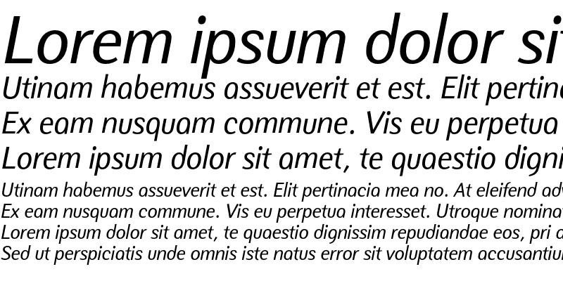 Sample of NatWest Text Italic