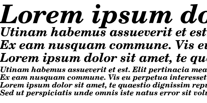 Sample of NCS CSXpali ItalicBold