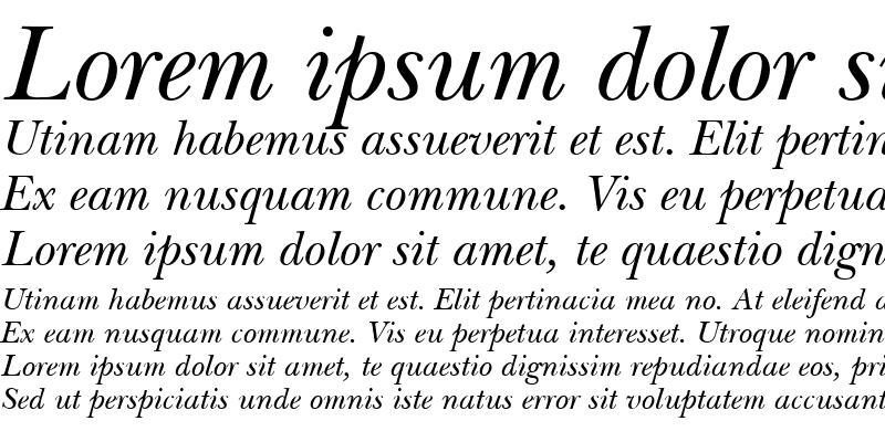 Sample of Nebraska Italic