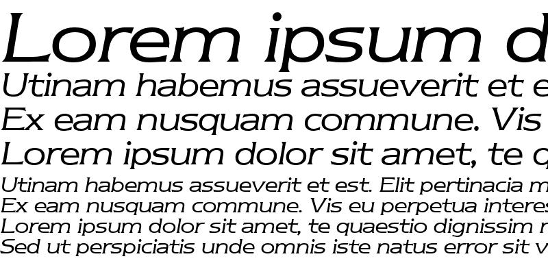 Sample of Nebraska RegularItalic