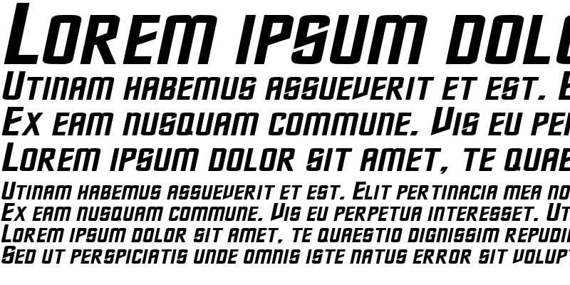 Sample of NebulaExtended Italic