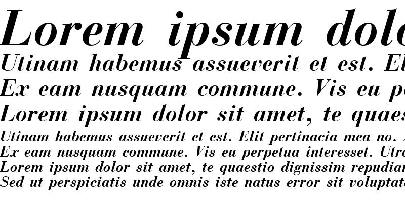 Sample of Nec  Bold Italic