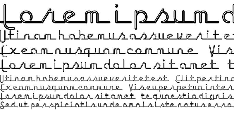 Sample of Neon Script Regular