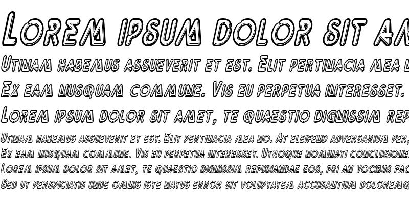 Sample of Neonz-Condensed Italic