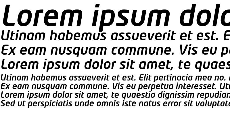 Sample of NeoTech Medium Italic