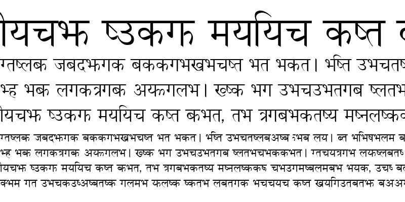 Sample of Nepali Font by Otard