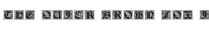 Preview of Neugotische Initialen Regular