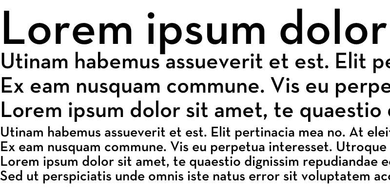Sample of Neutra Text Demi