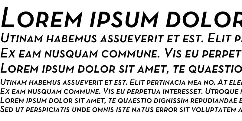 Sample of Neutra Text Demi SC Italic