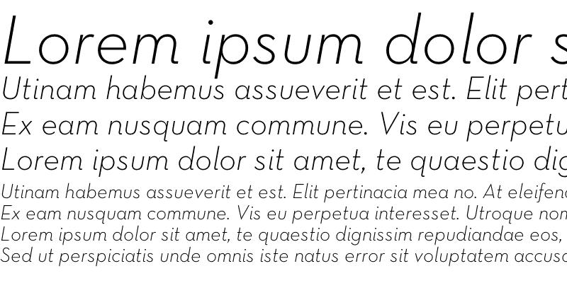Sample of Neutra Text Light Italic Alt