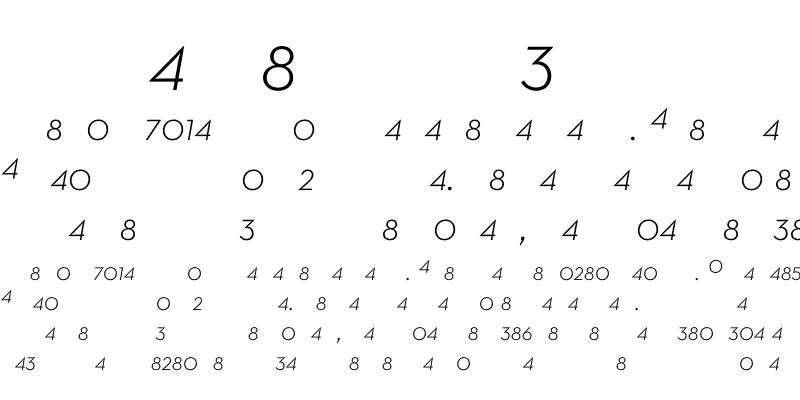 Sample of Neutra Text Light Italic Frac