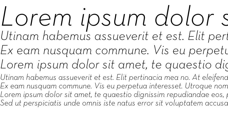 Sample of Neutra Text Light Italic
