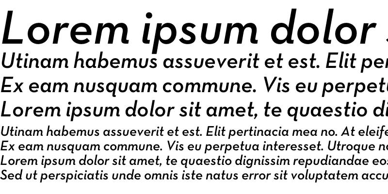 Sample of Neutra Text TF Demi Italic Alt