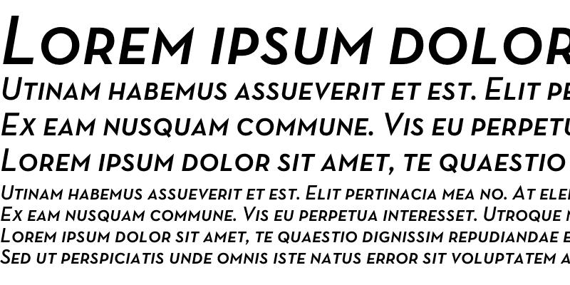 Sample of Neutra Text TF Demi SC Italic