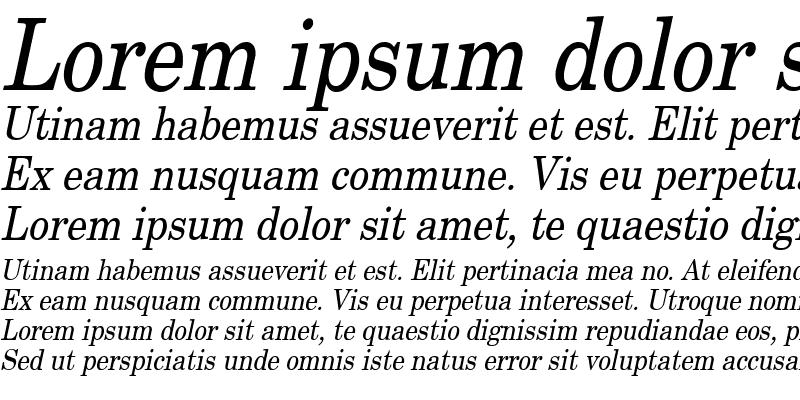Sample of New Boston Condensed Italic