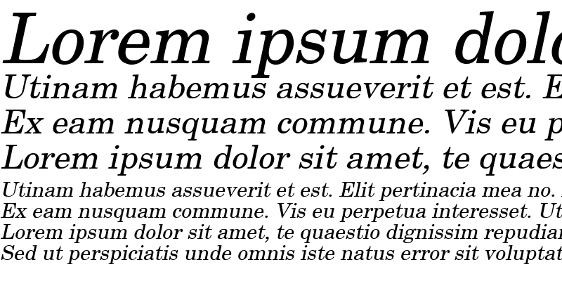 Sample of New Boston Italic
