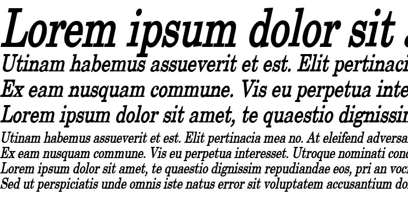 Sample of New Boston Thin Bold Italic