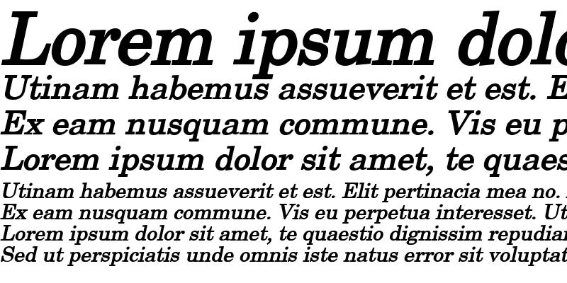 Sample of New Boston Wide Bold Italic