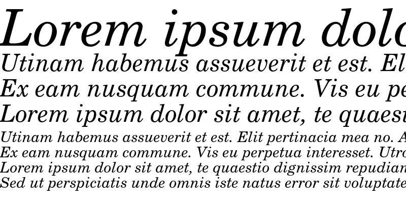 Sample of New Century Schoolbook CE Italic