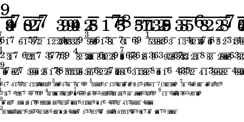 Sample of New Century Schoolbook Fraction Regular