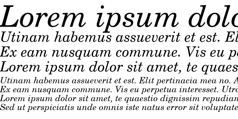 Sample of New Century Schoolbook Italic