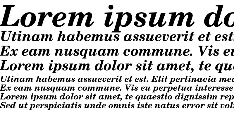 Sample of New Century Schoolbook LT Std Bold Italic