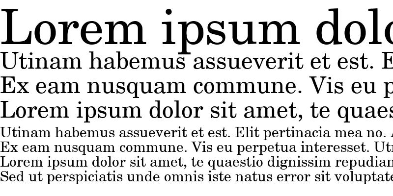 Sample of New Century Schoolbook Roman