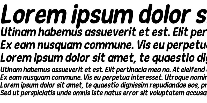 Sample of New Era Casual Bold Italic