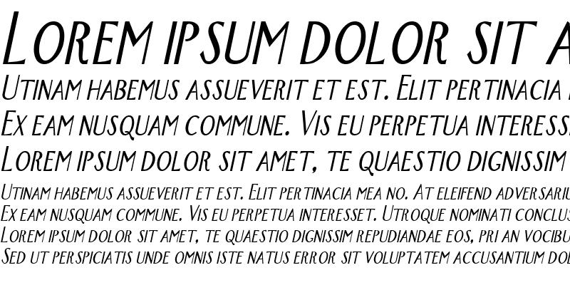 Sample of New-York-Condensed Italic