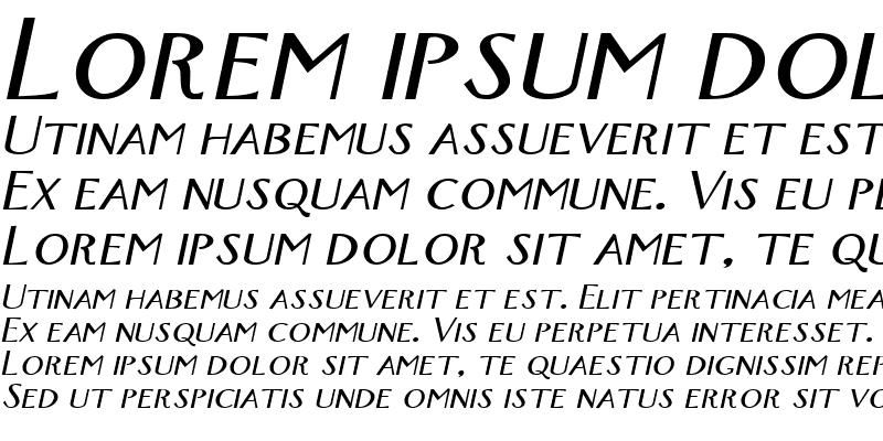 Sample of New-York-Extended Italic