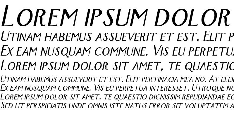 Sample of New-York Italic